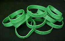 Green Awareness Bracelets 100 Piece Lot Silicone Jelly Wristband Cancer Cause