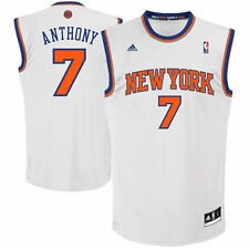 Mens New York Knicks Carmelo Anthony adidas White Replica Home Jersey - NBA