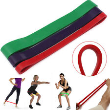 Latex Elastic Resistance Band Loop Body Gym Training Pull Up Yoga Exercise