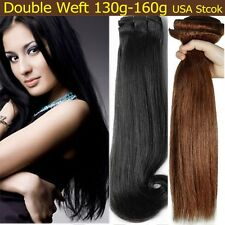 16-22 Brazilian Deep Clip In REMY Real Human Hair Extensions Brown Blonde AZ16