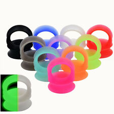 9 Pairs Thin Silicone Ear Skin Flexible Flesh Tunnel Plug Expander Gauge Earlets