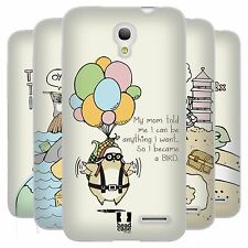 HEAD CASE WORLD TRAVELLERS SILICONE GEL CASE FOR ALCATEL POP S3