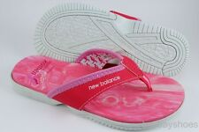 NEW BALANCE JOJO KOMEN THONG PINK/WHITE FLIP FLOPS SANDAL BREAST CANCER WOMEN SZ