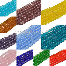 New4/6/8 mm Charm Czech Colorful Rondelle Bicone Crystal Glass Spacer Loose Bead