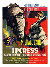 Ipcress File Michale Caine Belgian Movie Poster Print