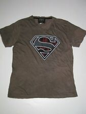 SUPERMAN Logo Red Brown SALVAGE Shirt TEE MENS SS Short Sleeve NEW TShirt T