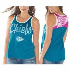 Kansas City Chiefs Womens Penelope Tank Top - Teal/Pink - NFL