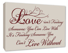 Love Quote Wall Picture Hanging Stone Beige Wall Decor Canvas Print A1/A2/A3/A4