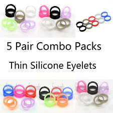 5 Pairs New Silicone Flexible Ear Flesh Tunnels Plugs Expander Eyelets Earskin