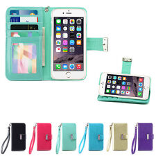 IZENGATE ID Cell Phone Wallet Case Flip Cover PU Leather Folio with Backstand