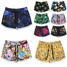 Women's Printed Boardshorts Straight Shorts Sports Short Pants Summer Beachwear