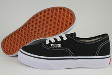 VANS AUTHENTIC BLACK/WHITE CLASSIC SKATE 0WWX6BT BOYS GIRLS KIDS US YOUTH SIZES