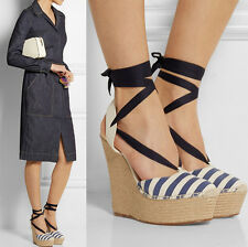 womens strappy wedge high heel platform stilettos mixed leather sandal shoes