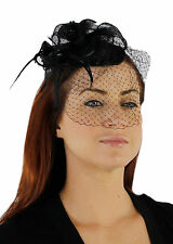 Charisma Sinamay Fascinator Cocktail Hat with Headband and Netting