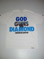 CROOKS AND CASTLES X DIAMOND SUPPLY CO WHITE Collaboration Shirt TEE Collab Mens