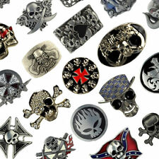 Change Skull Cross Buckle Belt Buckle Clasp Large Selection