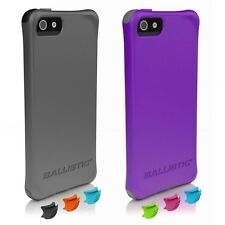 NEW Ballistic AGF Smooth Series Case for iPhone 5/5S SE w/ Color Bumpers Shock