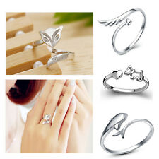 Silver Plating Ring Finger Girl Fashion  Lady Ring Opening Adjustable GIFT