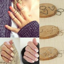 Fashion Lady Popular Women Black Gold Silver Above Knuckle Ring Band Midi Rings