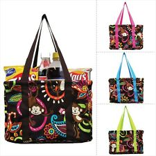 Small Collapsible Cute Monkey Print Utility Tote Bag