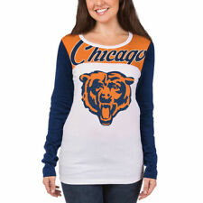 Chicago Bears New Era Womens Athletic Baby Jersey Long Sleeve T-Shirt – White