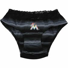 Miami Marlins Sox Nuance Women's Striped Knit Panty - Black - MLB