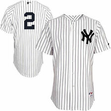Men's Majestic Derek Jeter White New York Yankees Authentic Jersey - MLB