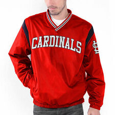 St. Louis Cardinals Wild Pitch V-Neck Pullover Jacket - Red - MLB