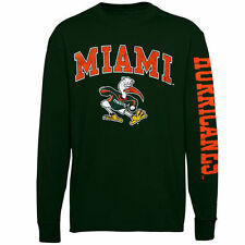 Miami Hurricanes Youth Distressed Arch & Logo Long Sleeve T-Shirt - Green - NCAA