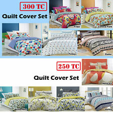 Renee Taylor 100% Cotton Quilt / Doona / Duvet Cover Set QUEEN KING Super King