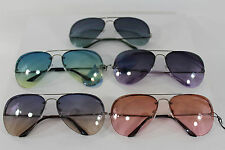 New Women Men Fashion Sunglasses Retro Aviator Summer Colors Designer Glasses