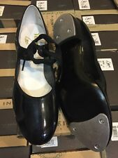 LEO's LEO 808W Tap Dance shoes patent leather w/ bows Tempo ADULT  sz 5.5-8
