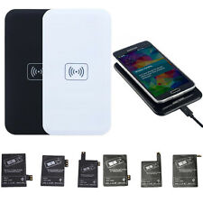 Qi Wireless Charger Charging Pad+Receiver Kit for Samsung Galaxy S3/4/5 Note234