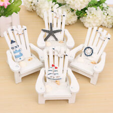NEW Mediterranean-style Wooden Chairs Mini Desktop Ornaments Home Decorations
