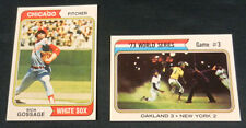 1974 Topps WORLD SERIES#484&RICH GOSSAGE#542/WRONG Front-Back&Back-Front PAIR/NM