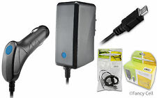 New Battery Auto Car Charger+Wall Home Travel Charger Combo for Cell Phones (CA)