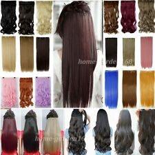 Real natural hair Long One Piece Clip in ins Hair Extensions Extention NEW lo87