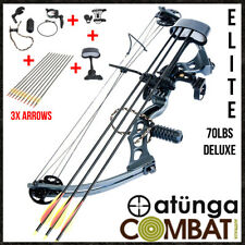 NEW Elite Compound Bow & Arrow Complete Pack Target And Archery Hunting + EXTRAS