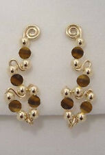 Ear Sweeps Pins Vines Earrings Gold or Silver with Gemstones or Beads #244