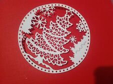 10 TATTERED LACE SNOWGLOBE CHRISTMAS TREE DIE CUTS FOR CHRISTMAS,TILDA