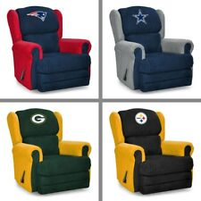 Choose NFL Team Two Color Microfiber Head Coach Recliner Arm Chair by Imperial
