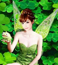 PWN1 Tinkerbell Fairy COS Costume Wings wedding shoot iridescent Adult & kid