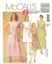 McCalls 3926  Misses 2 Hour Pullover Dress Sewing Pattern