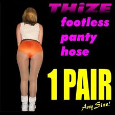 1 pair - Footless Panty Hose - Sheers Solids Athletic Hooters, Cheerleader Style