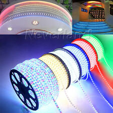 220V IP65 1-100M 60led/M 5050 SMD LED Rouleau Ruban Strip Lamp Lumiere Eclairage