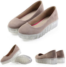 6 Color US Size 5-9 New Leather Womens Pointy Casual Platform Flats Loafer Shoes