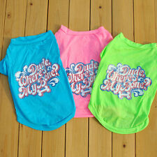 2015 New Summer Small Dog Cat Pet Clothes Colorful T Shirt Apparel Clothes Dog