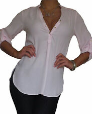 Ladies Blouse Shirt Tops Long Sleeve New Loose Casual Top Size 8 10 12 14 16 18