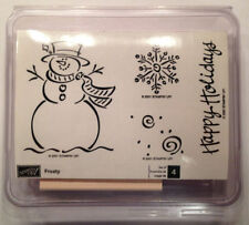 Stampin Up Frosty Retired Rubber Stamps