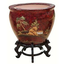 Hand Painted Chinese Oriental Fish Bowl Various Designs